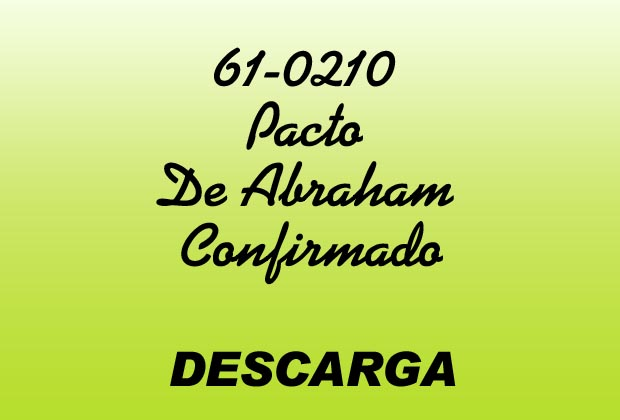 Pacto De Abraham Confirmado MP3 - William Marrion Branham