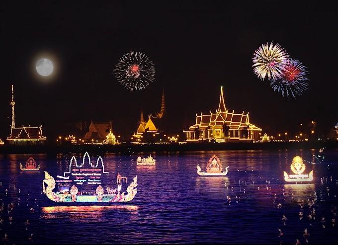 Cambodia Water Festival Free Vector file