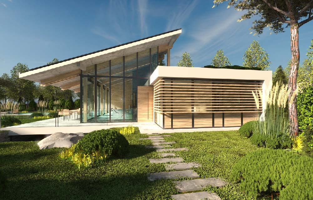 Costruire una villa moderna e spaziosa su un singolo piano blog di arredamento e interni - Progetto costruzione casa ...