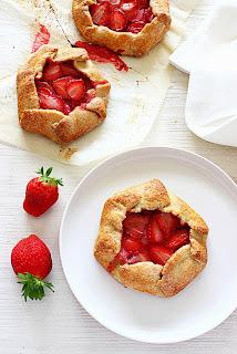 Aardbeien galettes