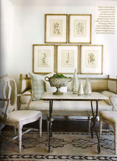botanicals antique behind settee in breakfast room french country gustavian style stunning