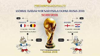 Jadwal Lengkap dan Jam Tayang Semifinal Piala Dunia 2018 Rusia
