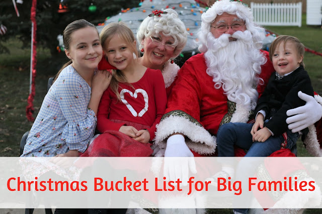 Christmas Bucket List for Big Families