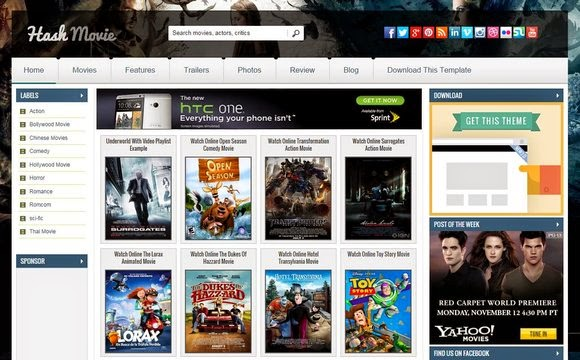 hash movie blogger template high quality free blogger