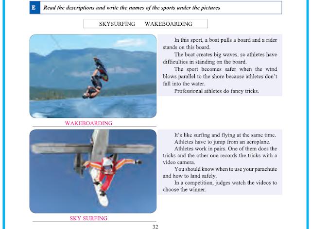 9. Sınıf Yıldırım Yayınları İngilizce A1.2 Çalışma Kitabı 32. Sayfa Cevapları Theme 4 Sports