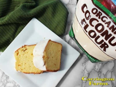 Lemon Pound Cake with Coconut Butter Glaze Recipe