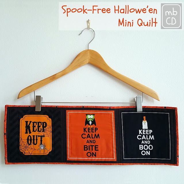 Halloween Mini Quilt by www.madebyChrissieD.com
