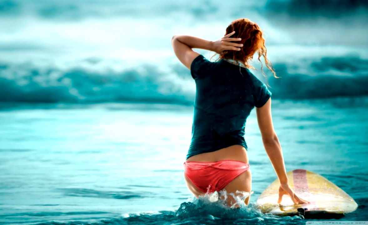 Girl Sea Photo Hd Wallpaper Wallpapers Point