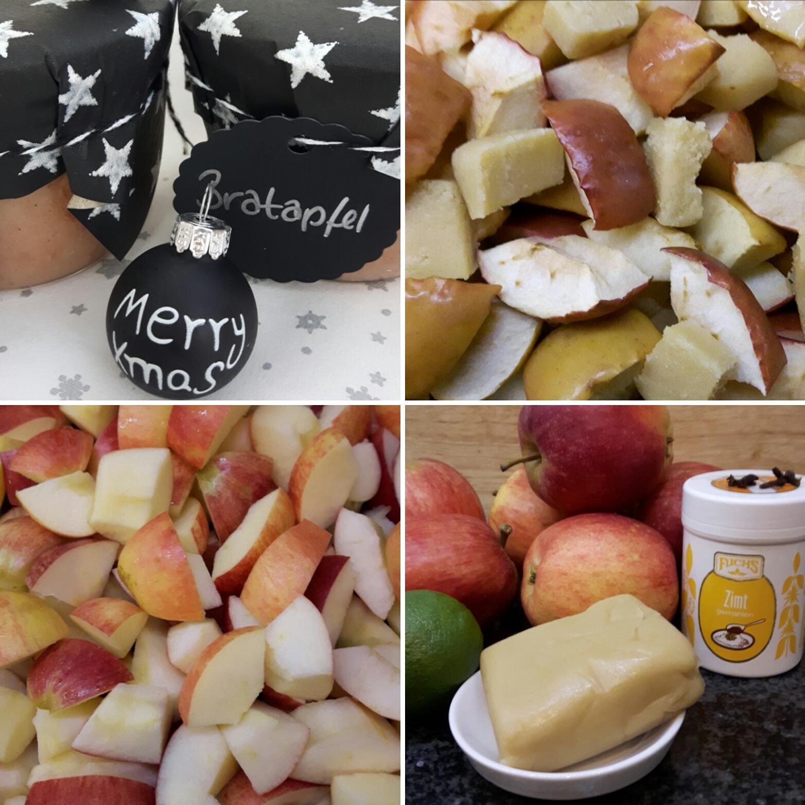 Leckere Weihnachtsgeschenke.Rezept Für Bratapfel Marmelade Mit Marzipan 12 Gläser à 230ml