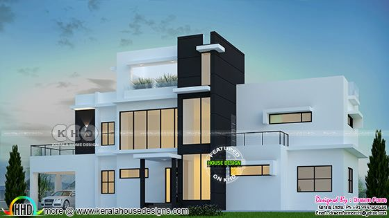 5 bedroom 3789 sq.ft  modern home design