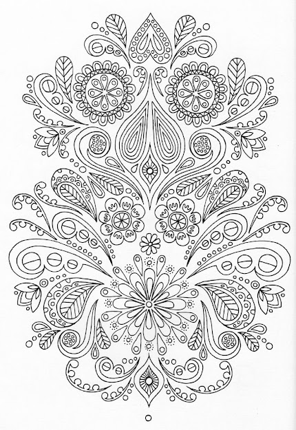 Abstract Doodle Zentangle Paisley Coloring Pages Colouring Adult Detailed