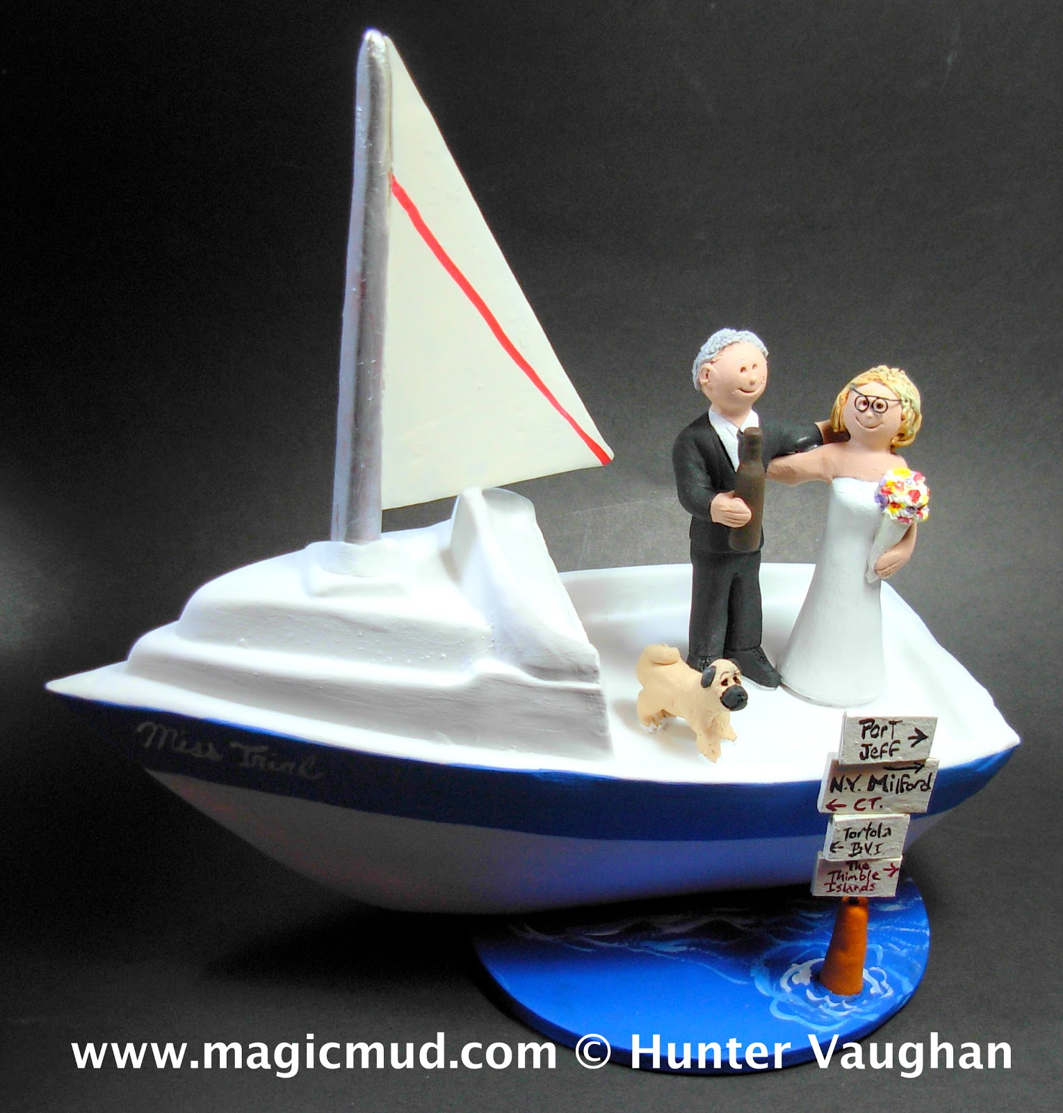 boat wedding cake topper custom wedding cake toppers boater s wedding cake 1991