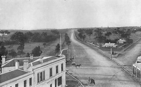 Looking from the Junction towards St Kilda and Punt Roads, 1858.
