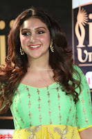 Sridevi Telugu Actressi in green Yellow Anarkali Dress at IIFA Utsavam Awards 019.JPG