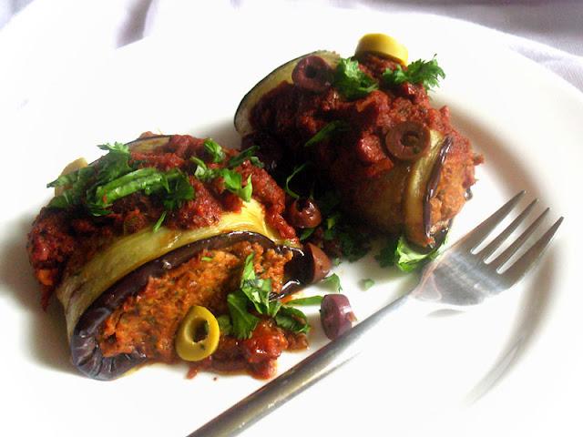 Vegetarian Eggplant Involtini
