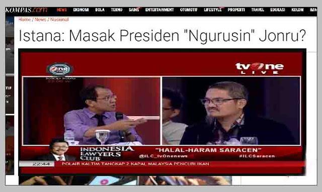 "Politik Istana: Masak Presiden ""Ngurusin"" Jonru!, Akbar Faizal dan Bani Cebong Patah Hati?"