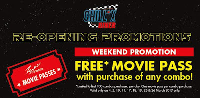 TGV Cinemas Chill*X Diner 1 Utama Re-Opening Promo