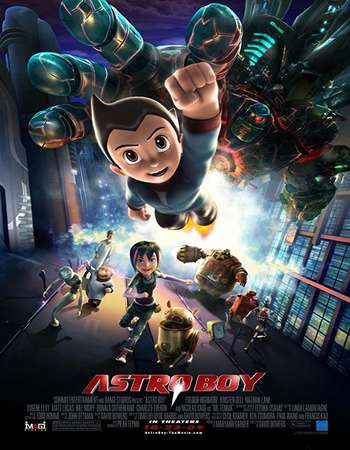 Poster Of Free Download Astro Boy 2009 300MB Full Movie Hindi Dubbed 720P Bluray HD HEVC Small Size Pc Movie Only At worldfree4u.com