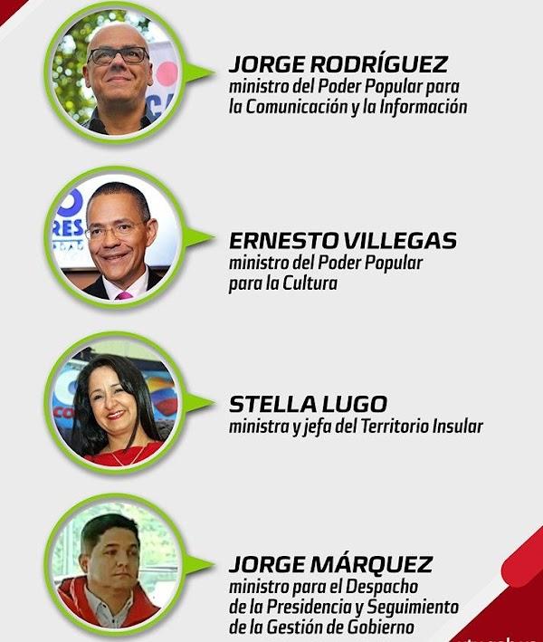 Presidente Nicolas Maduro designó nuevos miembros en su tren Ejecutivo