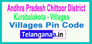 Chittoor District Kurabalakota Mandal and Villages Pin Codes in Andhra Pradesh State