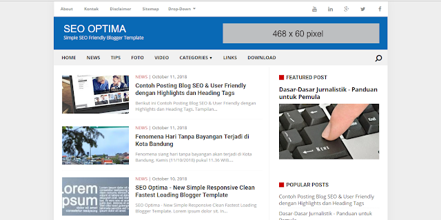 SEO Optima Fast Loading Blogger Template