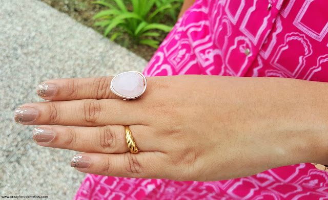Rose Quartz RING from Lovisa