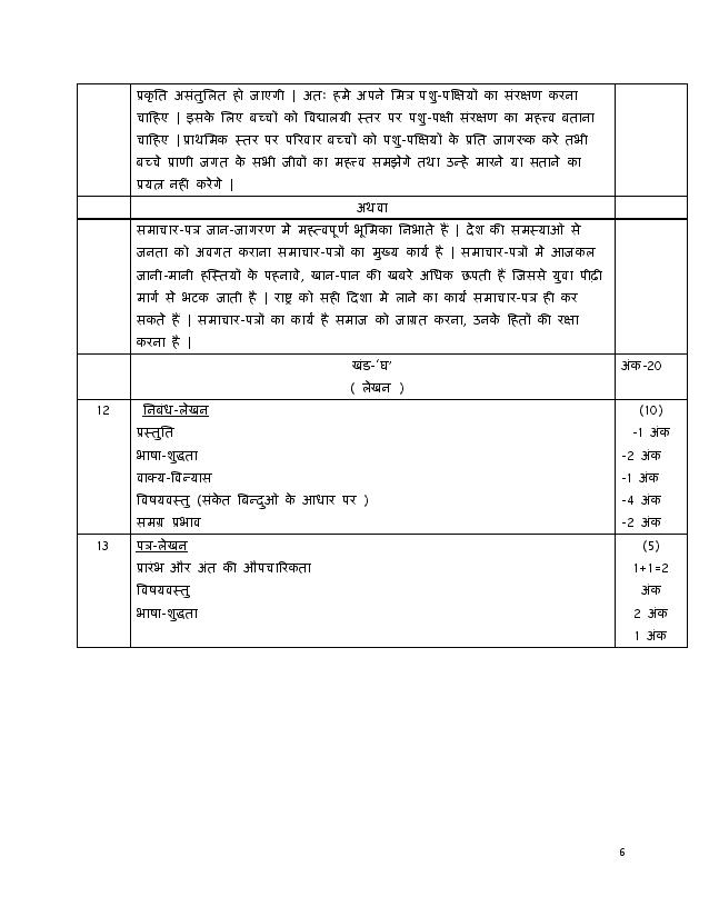 Hindi A 2019 2019 marking scheme & Answer Page-06