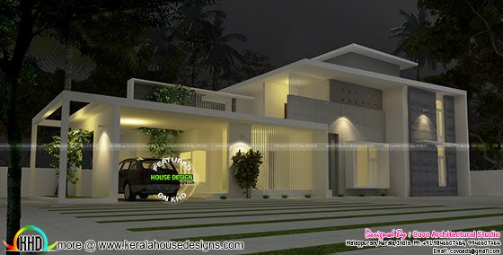4 bedroom true flat roof contemporary house