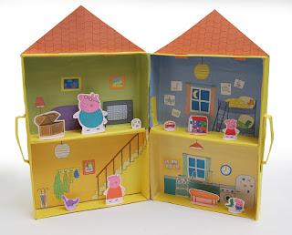 Casinha de Papel Peppa Pig faça você mesmo paper craft