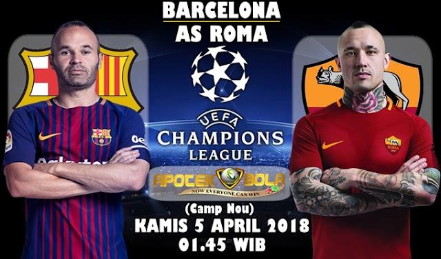 Prediksi Barcelona vs AS Roma 5 April 2018