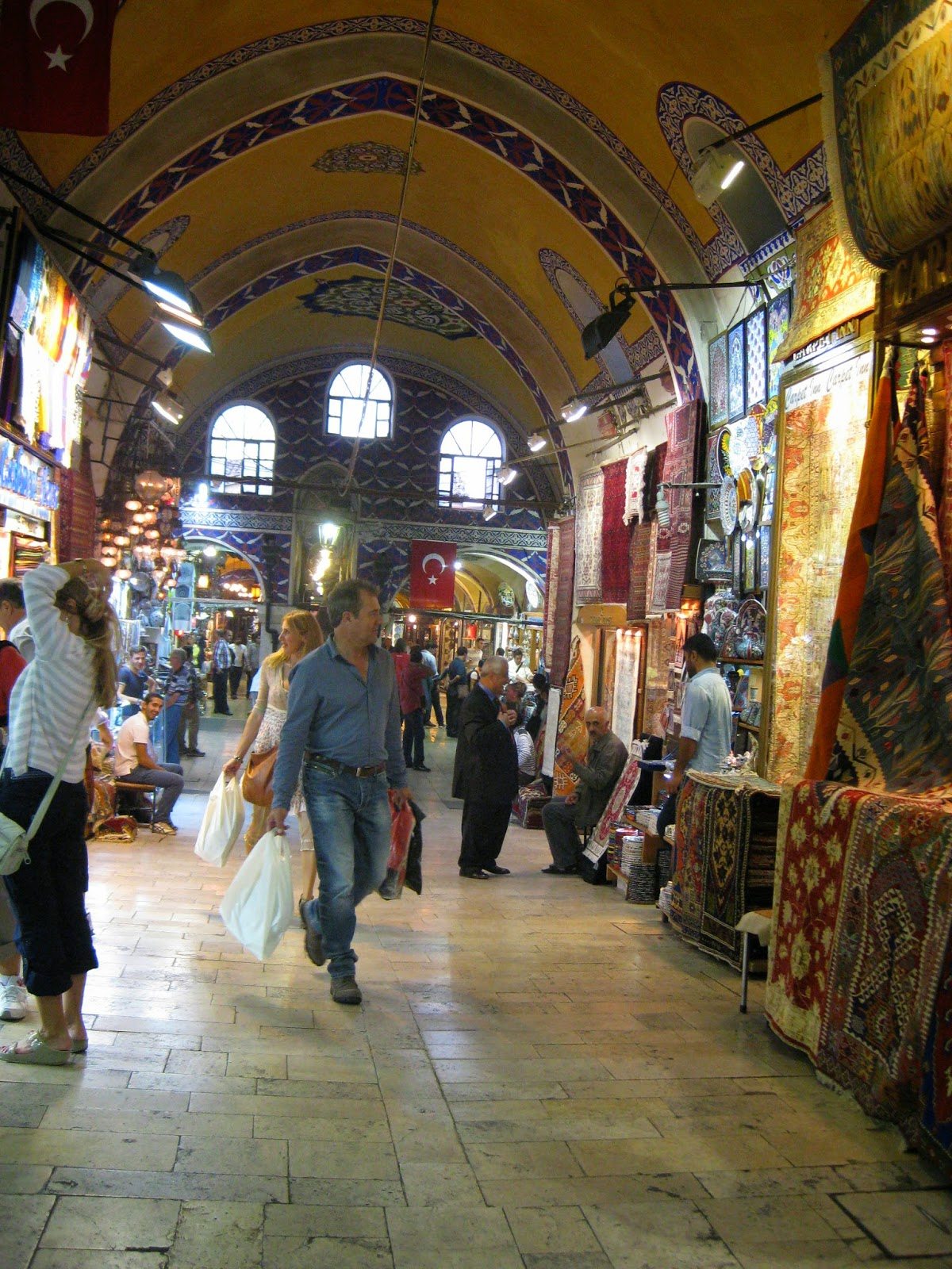 Istanbul - Merchants sell rugs, textiles, jewelry at the Grand Bazaar