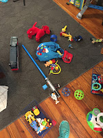 living room toy mess