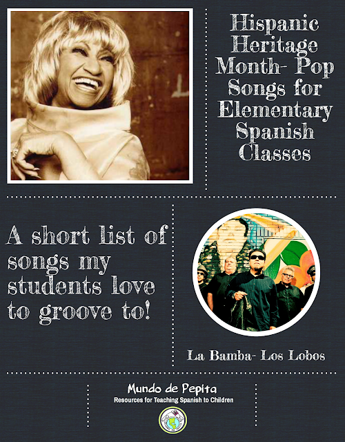 Hispanic Heritage Month Songs for Elementary Spanish Class