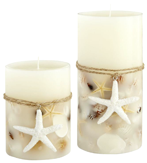 DIY Candles with Embedded Shells - Completely Coastal
