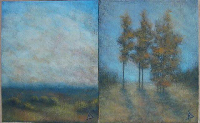 pictura acrilic/carton panzat 24x30cm