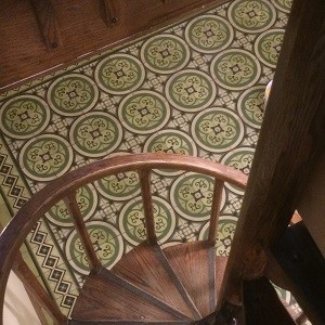 Avente's blog, Tile Talk, provides insight on design and use of cement tile, like this tile rug.
