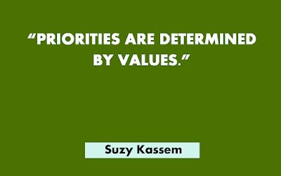 Priorities are determined by values.