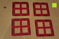 Fenster: Playbees 100 Teile Magnetische Bausteine Set für 2D und 3D Form Konstruktionen, Regenbogenfarben Magnetspielzeug, Baukasten Magnetspiel, Magnetbausteine