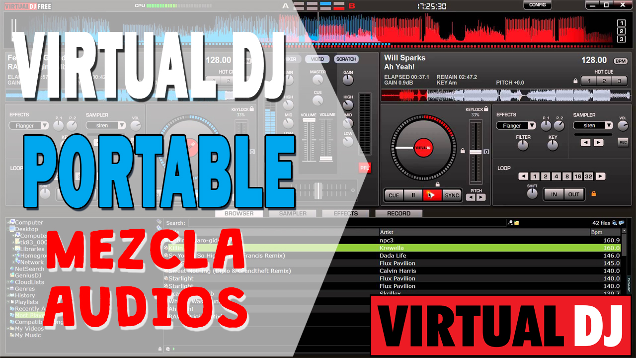 Crea mezclas de audio con Virtual DJ