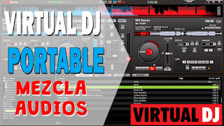 Crea mezclas de audio con Virtual DJ portable