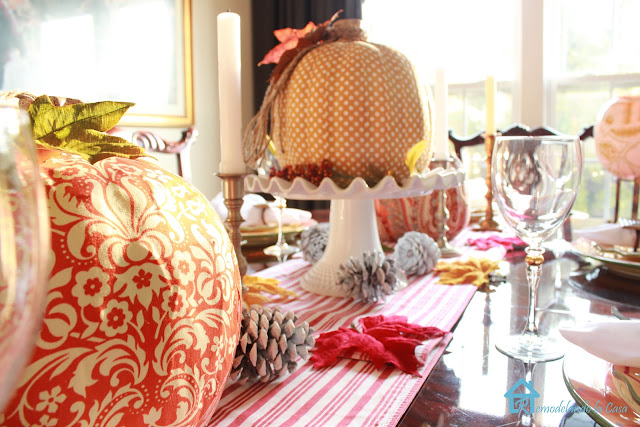 orange and yellow table decor for fall