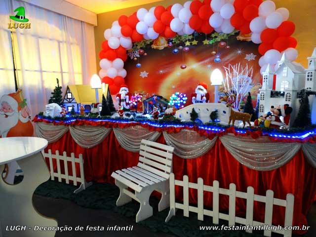 Decoração de festa de Natal para aniversário infantil realizado na Barra da Tijuca (RJ)