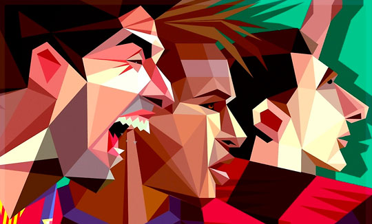 Geniales mini ilustraciones poligonales de estrellas del fútbol por Robin Gundersen