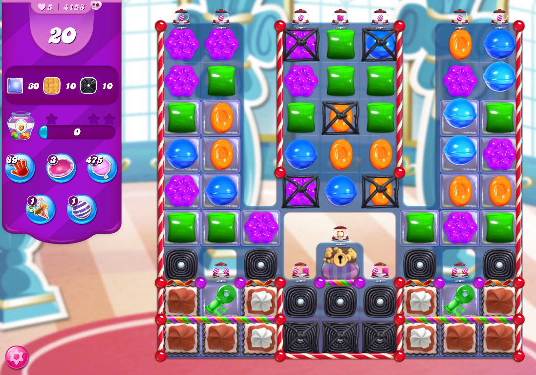 Candy Crush Saga level 4158