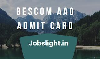 BESCOM AAO Admit Card