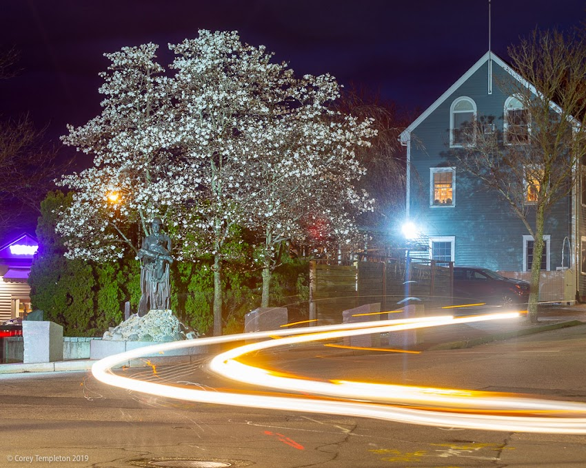 Portland, Maine USA May 2019 photo by Corey Templeton. A little bit of traffic at Gorham's Corner the other evening.