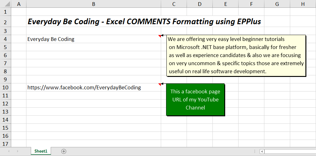 How To Format Comment (Resize And Text, Background Color) In