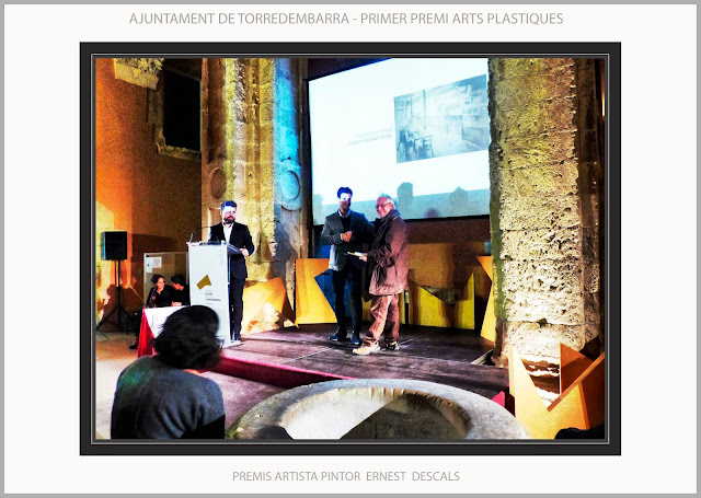 TORREDEMBARRA-PINTURA-AJUNTAMENT-TARRAGONA-CATALUNYA-CONCURS-PERE ROMEU-ARTS PLASTIQUES-ARTISTA-PINTOR-ERNEST DESCALS-