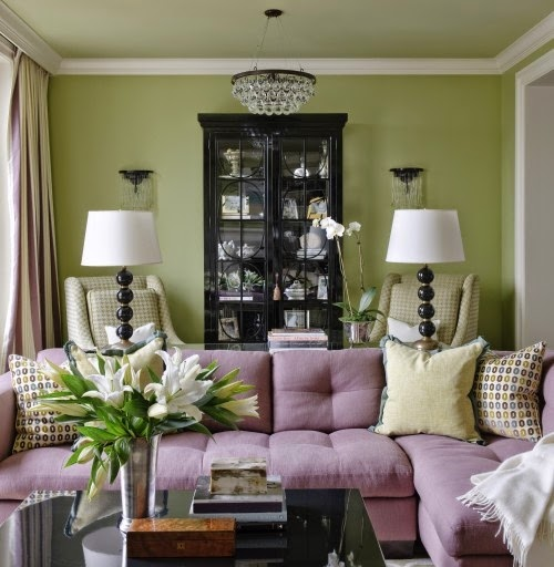 Decorating The Bedroom With Green Blue And Purple: Eye For Design: Decorating With The Purple/Green Combination