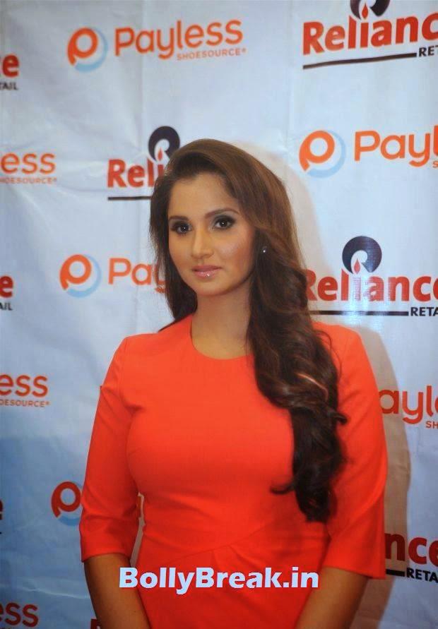 Sania Mirza Pics in Red Dress, Sania Mirza Hot Pics in Red Midi Dress